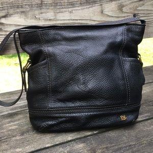 TheSak soft, black pebble leather shoulder bag
